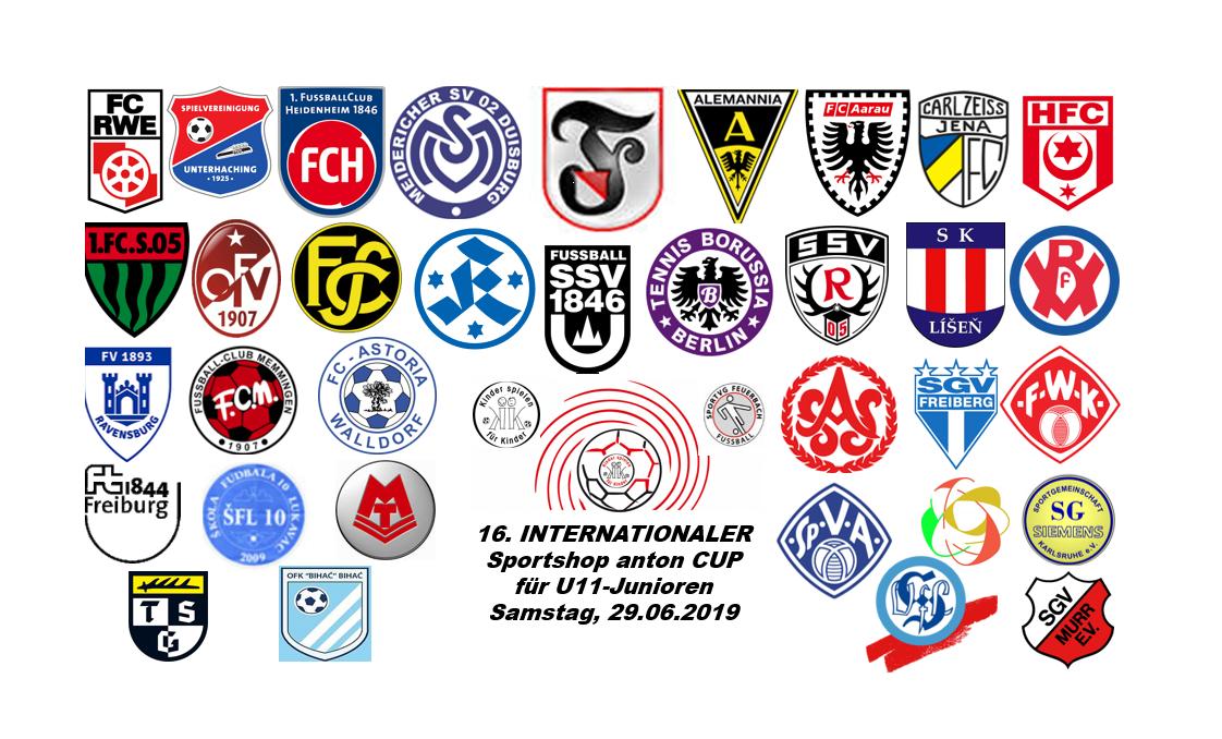 Übersicht Teams INTCUP 2019 - Stand 06.12.18