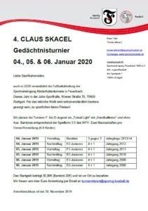 4 Claus Skacel Turnier 2020